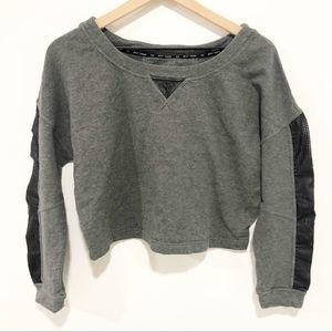 Betsey Johnson performance gray cropped sweatshirt